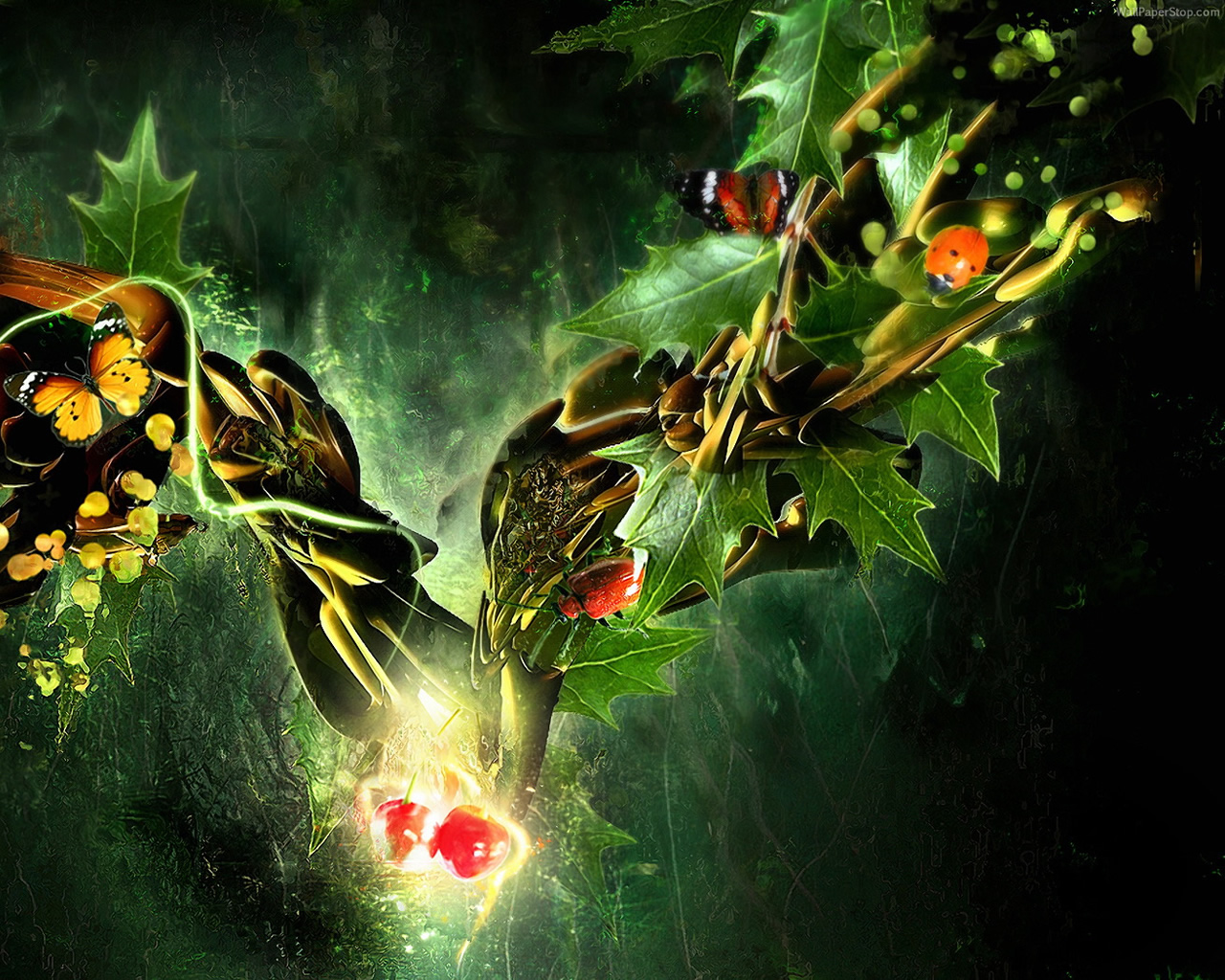 13 Free 3D Vector Nature Wallpapers HD