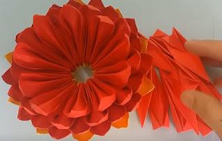 gấp giấy origami - hoa sen