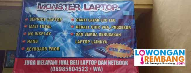 lowongan servis leptop rembang
