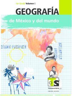 Libro de TelesecundariaGeografía de México y el mundoPrimer gradoVolumen ILibro para el Alumno2016-2017