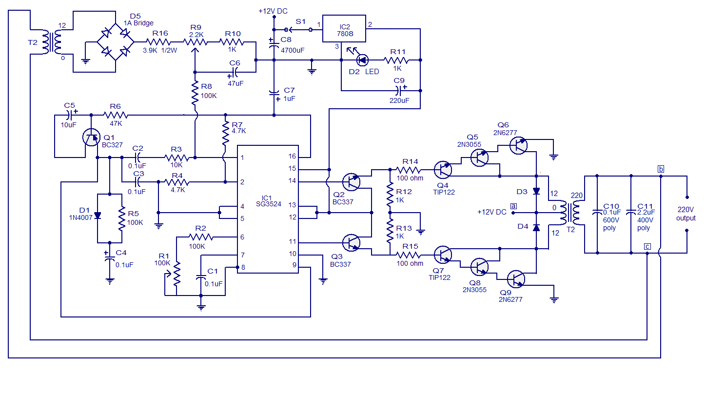 Diagram 200 W Inverter Circuit Diagram Full Version Hd Quality Circuit Diagram Wiringgame Pizzagege Fr