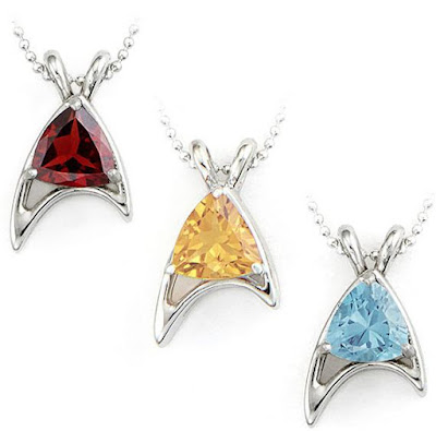 Star Trek Sterling Starfleet Trillion Necklaces