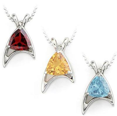 Star Trek Sterling Starfleet Trillion Necklaces