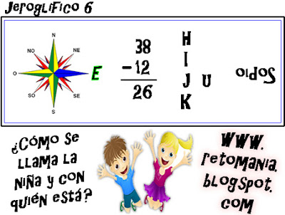 Jeroglíficos, Jeroglíficos para niños, Jeroglíficos con solución, Jeroglíficos escolares, Pasatiempos