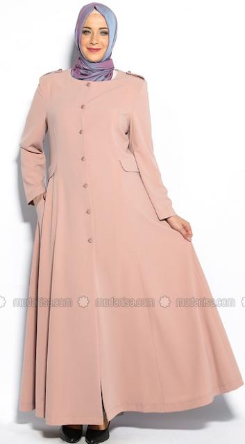 29 Model Baju Muslim Untuk Wanita Gemuk Trend 2018