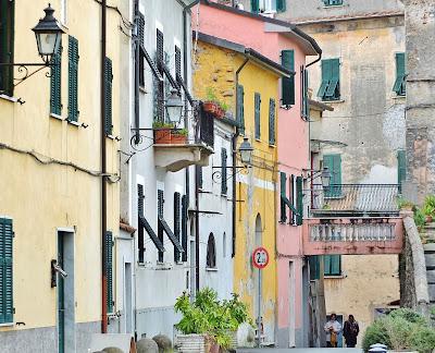 Street in Sarzana Liguria Italy