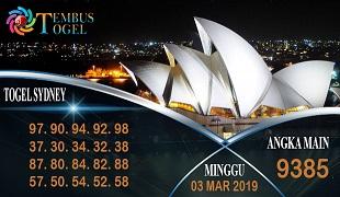 Prediksi Angka Togel Sidney Minggu 03 Maret 2019