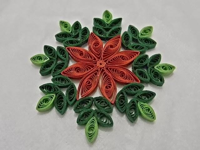 dwa kolory, święta, Boże Narodzenie, quilling