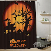 Halloween Poster 3D Printing Shower Curtain