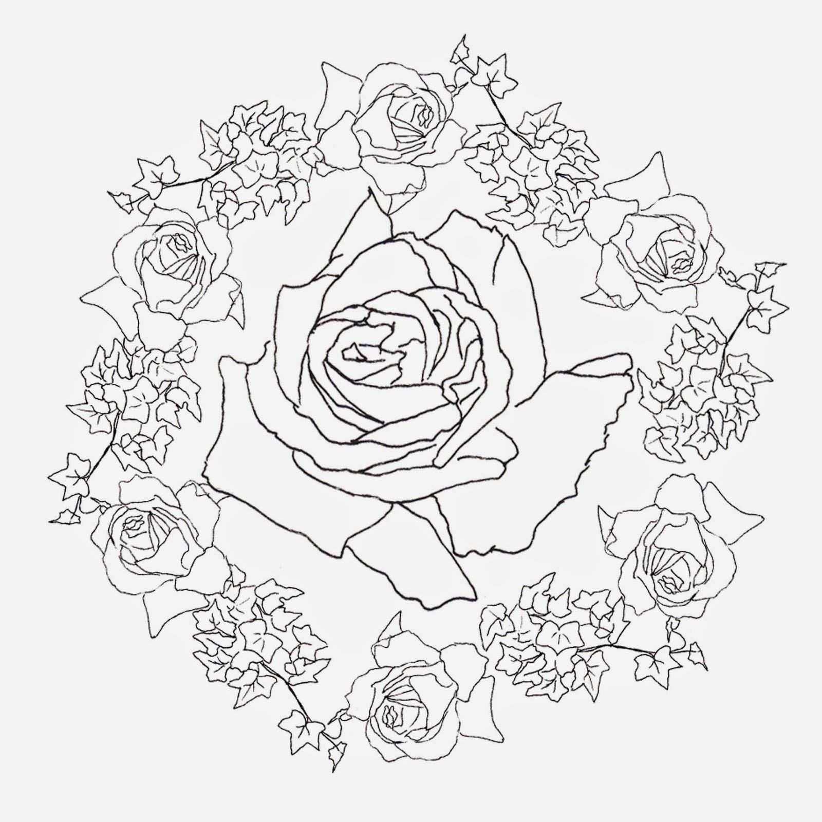 Moderno Colorear Rosas Rosas Inspiración - Dibujos Para Colorear En ...