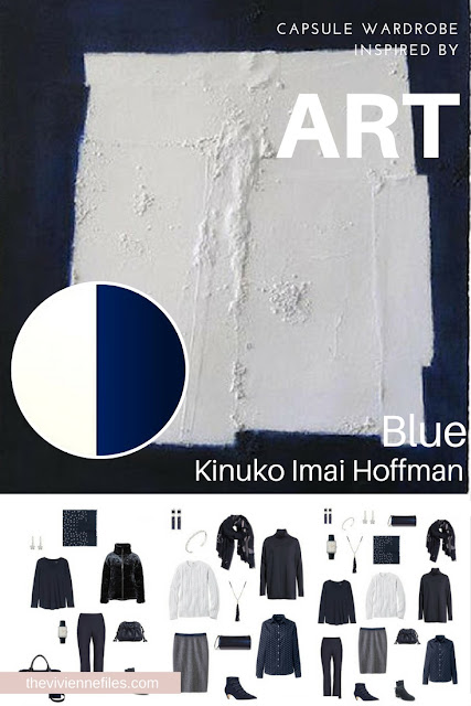 Build a Weekend Capsule Wardrobe by Starting with Art Blue by Kinuko Imai Hoffman