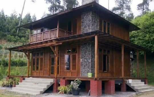 desain rumah kayu tingkat