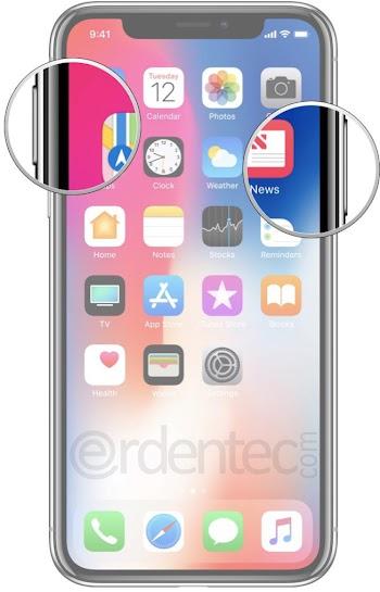 iPhone X, iPhone XS, iPhone XS Max, iPhone XR take a screenshot