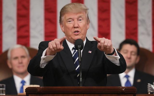 Tổng thống Donald Trump phát biểu trước Quốc hội Hoa Kỳ vào ngày 28/2 vừa qua tại Hạ viện Hoa Kỳ thuộc Điện Capitol ở Washington, DC. Hình ảnh: Jim Lo Scalzo - Pool/Getty Image.