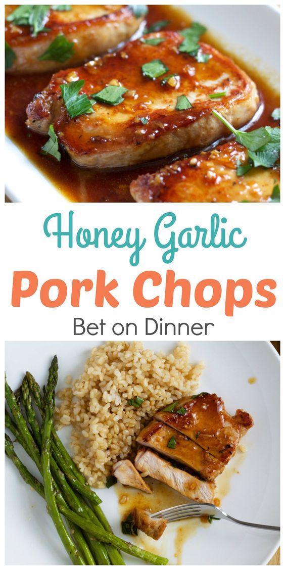 Recipe – Honey Garlic Pork Chops