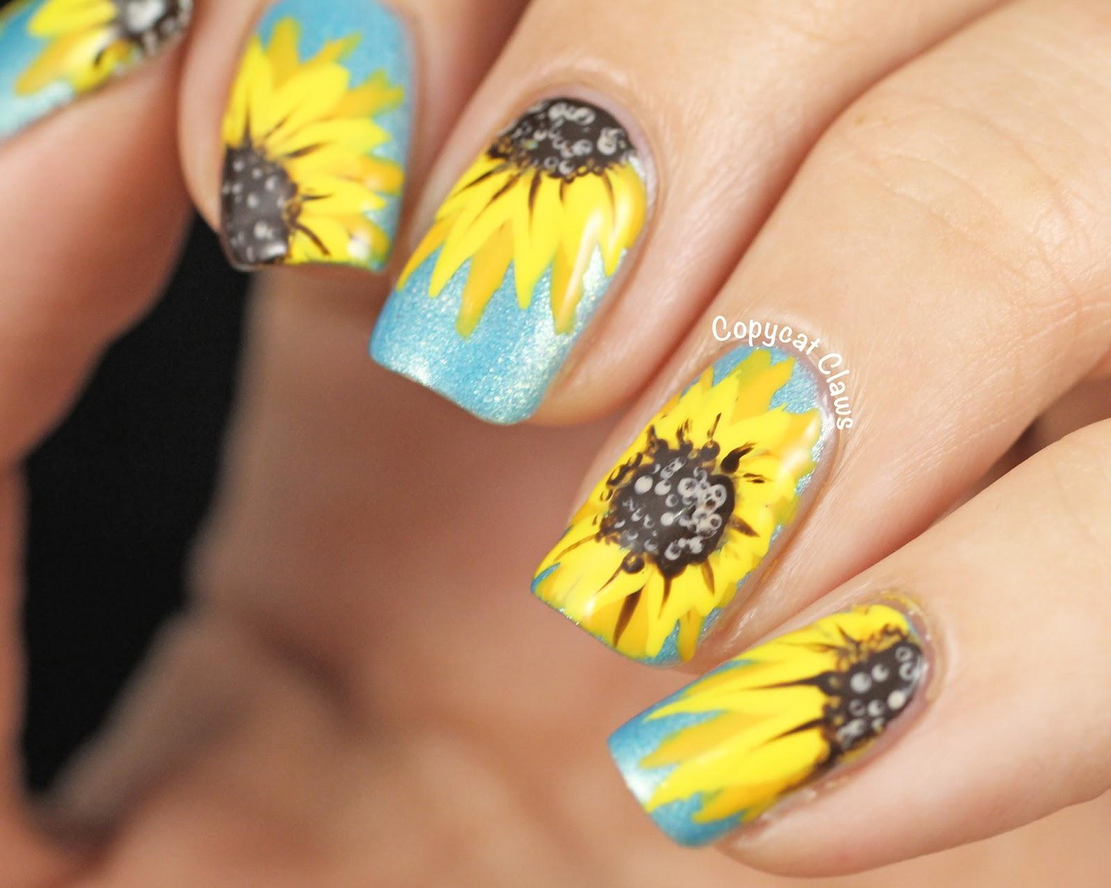 Yellow nails designs