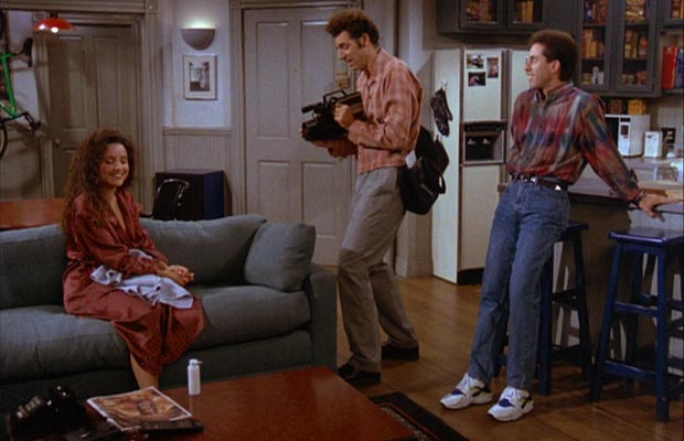 Jerry Seinfeld wore a different pair of sneakers (mostly Nikes) on his TV  show each week. 5c0216578