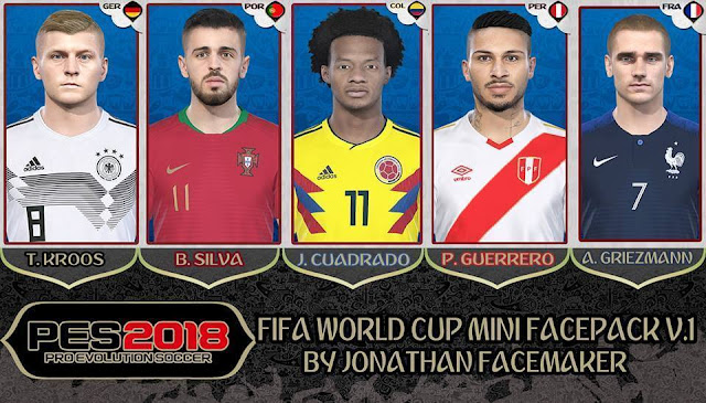 FIFA World Cup Mini Facepack PES 2018