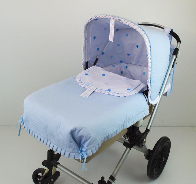 Vestidura bordada azul capazo Bugaboo