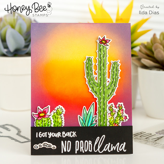 No Probllama Encouragement Card by ilovedoingallthingscrafty.com