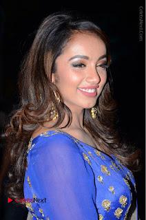 Telugu Actress Tejaswi Madivada Pos in Blue Long Dress at Nanna Nenu Na Boyfriends Audio Launch  0011.JPG