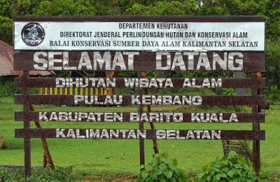 Papan Ucapan Selamat Datang Pulau Kembang