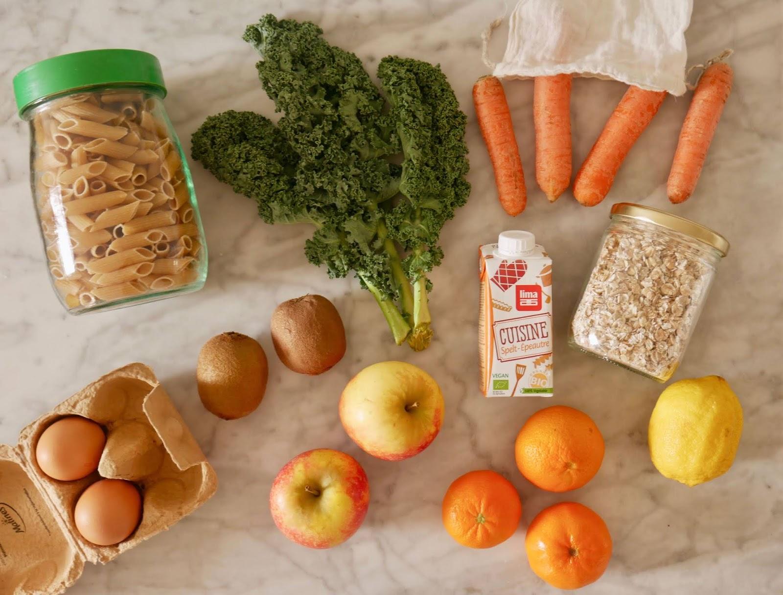 Courses écolo bio vrac végétarien zéro déchet