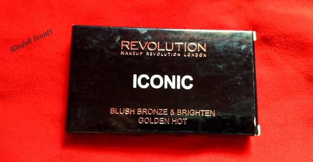 Makeup Revolution London Iconic Blush Bronze Brighten(GoldenHot) Palette Review