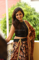 Lasya looks super cute in black choli Saree at Raja Meru Keka Press Meet ~  Exclusive 060.JPG
