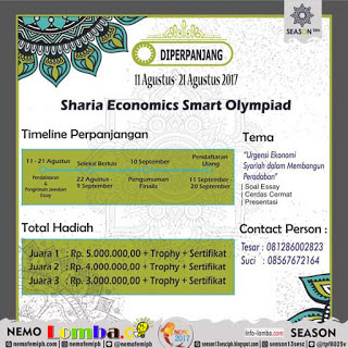 Olimpiade Sharia Economics Smart 13th Season 2017   Institut Pertanian Bogor   Mahasiswa