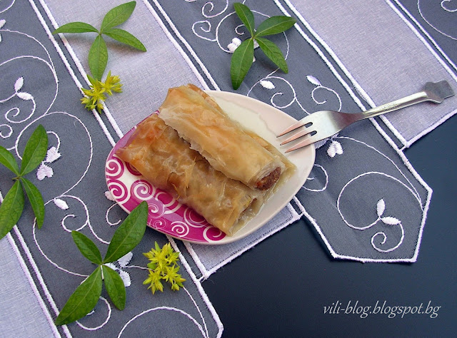 Баклавички - пурички с ароматна плънка