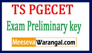 TS PGECET 2017 Exam Preliminary key