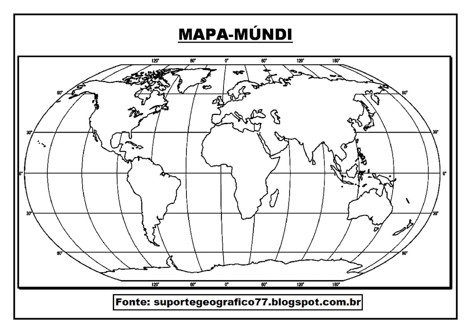 Suporte Geografico Mapa Mundi Para Colorir