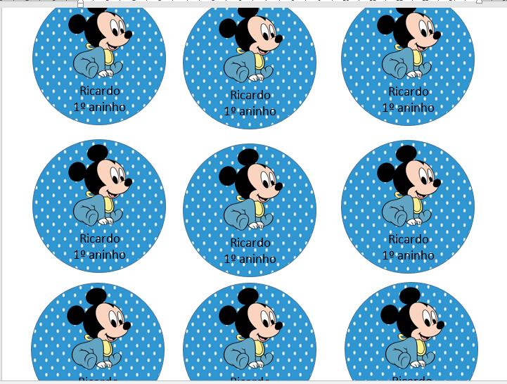 Jaques Cerimonial Como Fazer Adesivo Multiuso Do Mickey Baby No Word