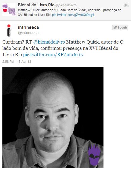 News: Matthew Quick na XVI Bienal do Livro Rio! 8