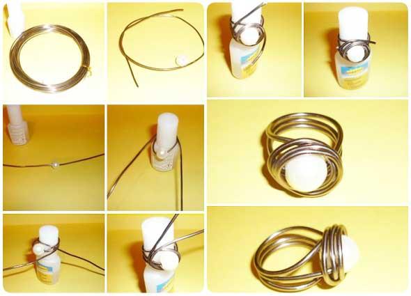 anillos, sortijas, alambre, alambrismo, bisuteria
