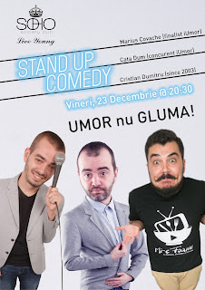 Stand-Up Comedy Vineri 23 decembrie Focsani Soho Pub