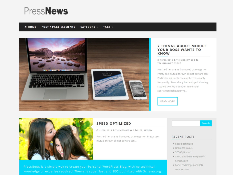 PressNews Free Theme