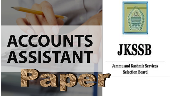 JKSSB  Accounts Assistant Previous Papers - Download