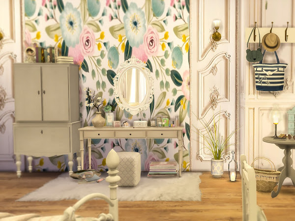 Sims 4 Floral Wallpapers  花朵壁紙