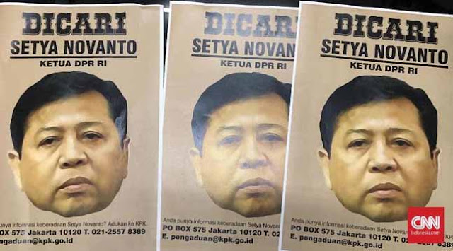 "Poster Pencarian ""Papa"" Novanto Disebar ke Publik"