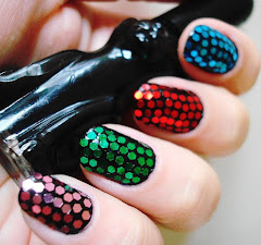 Nail Art com Glitter Hexagonal