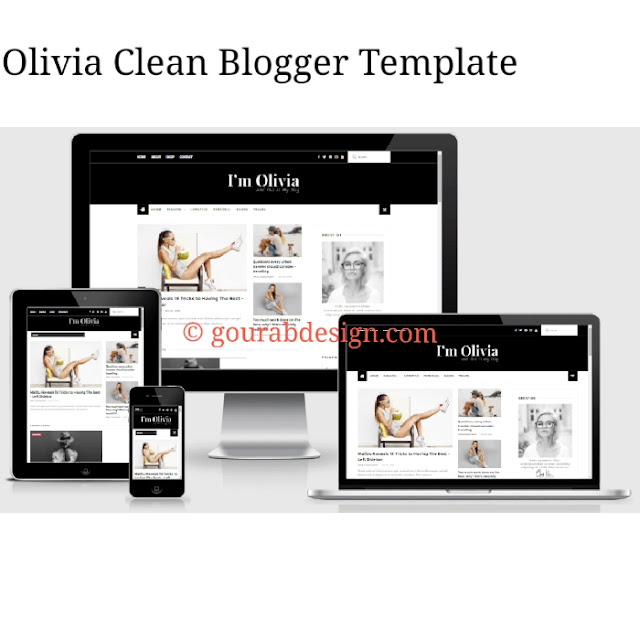 Olivia clean blogger template