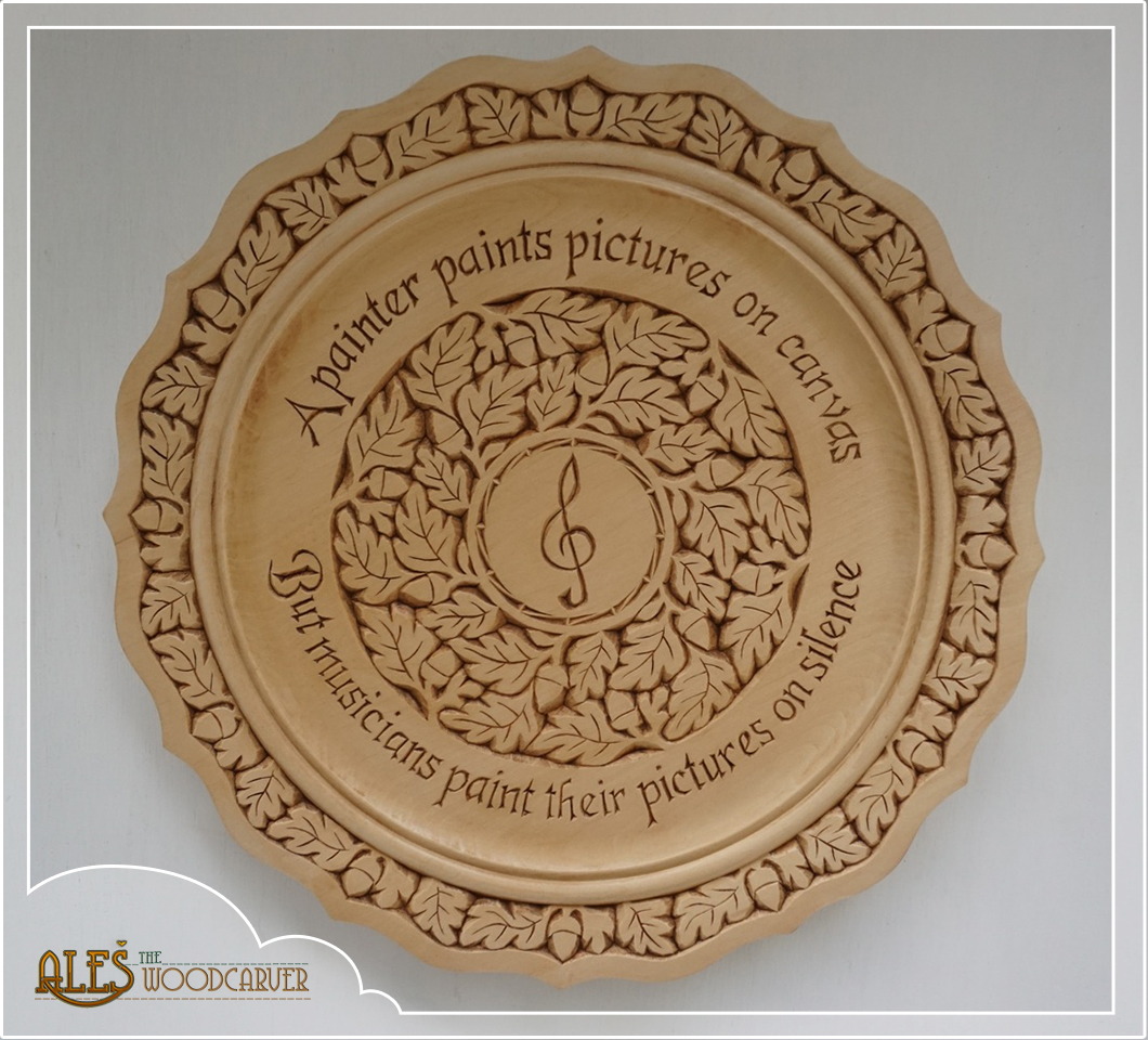 Ales the woodcarver large basswood plates chip carving