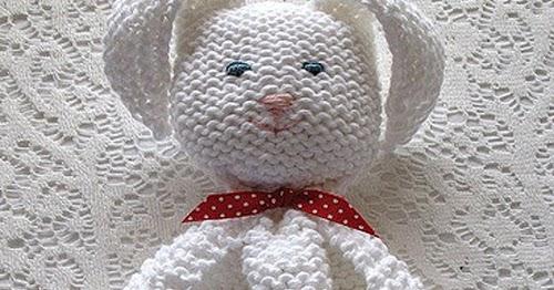 Bunny Blanket Buddy Knit Pattern : We Like Knitting: Bunny Blanket Buddy - Free Pattern