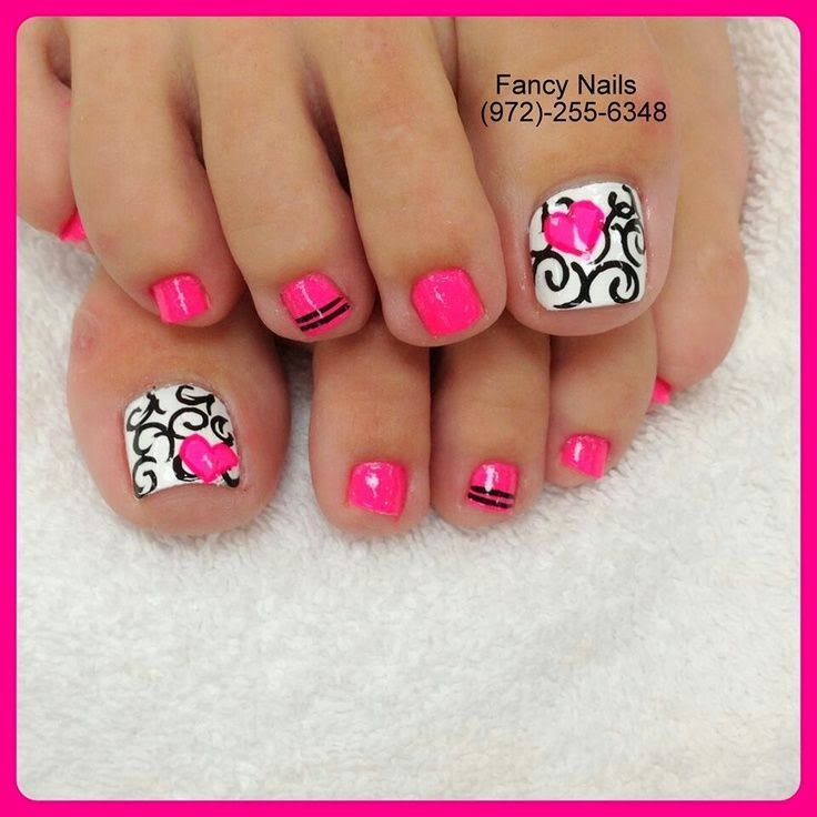 Toe nail designs black and white | Nail Art and Tattoo ...