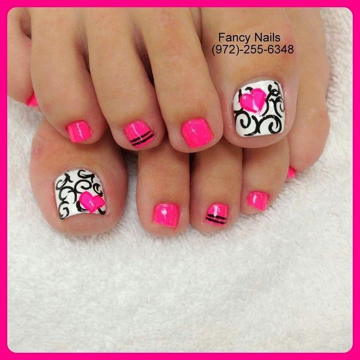 Toe nail designs black and white | Nail Art and Tattoo ...