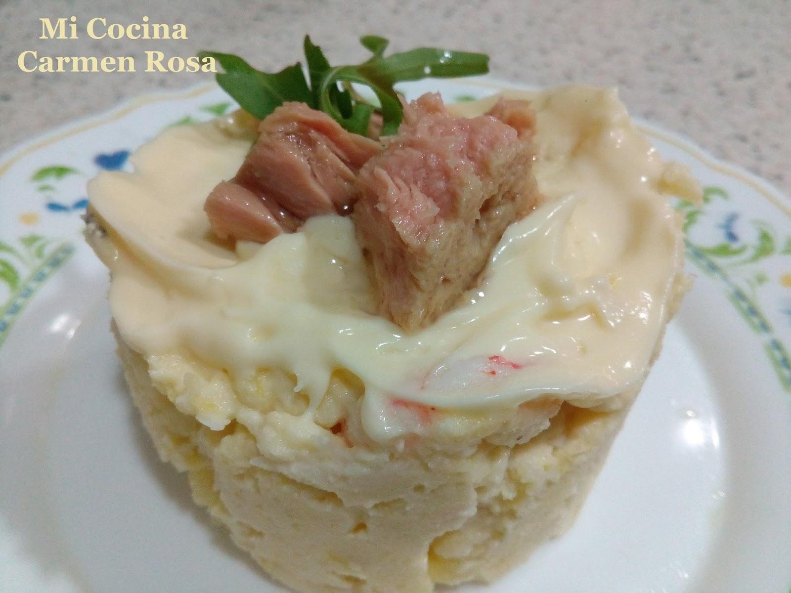 Mi cocina ensaladilla de patatas con merluza y gambas de for Mi cocina malaga