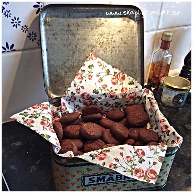 Chokladkakor med chili och salt