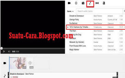 Menambahkan musik - Youtube video editor